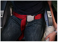 Lap Seat Belt still used in Aeroplanes