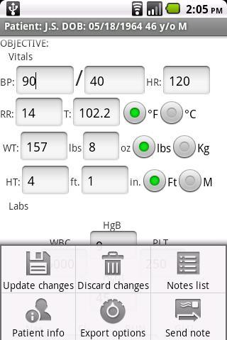progress notes android app